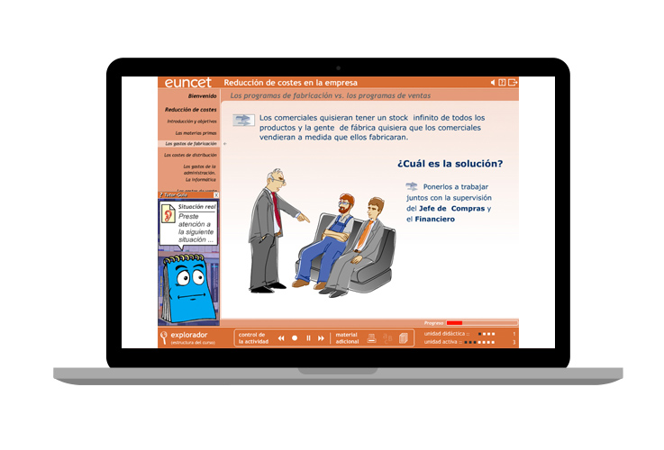 Cursos on-line de temática empresarial : Euncet
