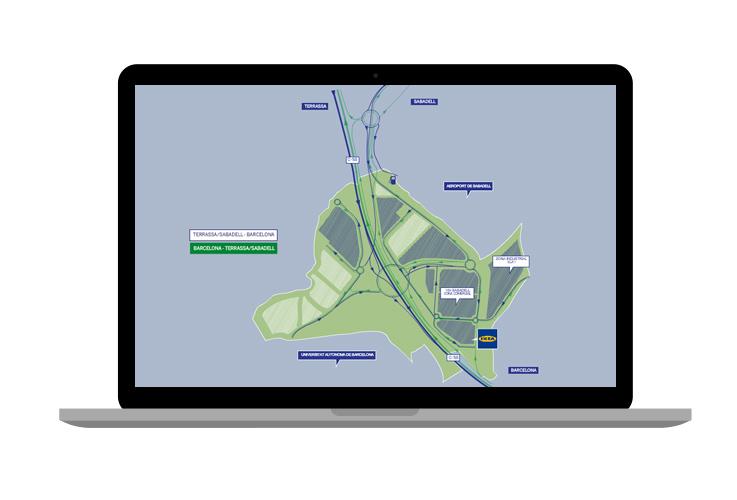 Mapa interactivo para Via Sabadell