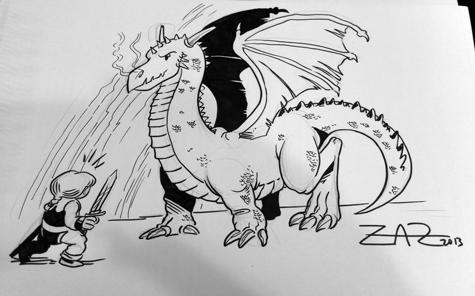 Little Renna y un dragón