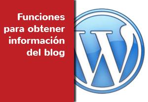 WordPress: Funciones para obtener información del blog