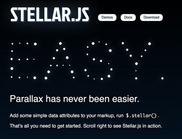 Stellar un plugin jquery para recrear efectos Parallax