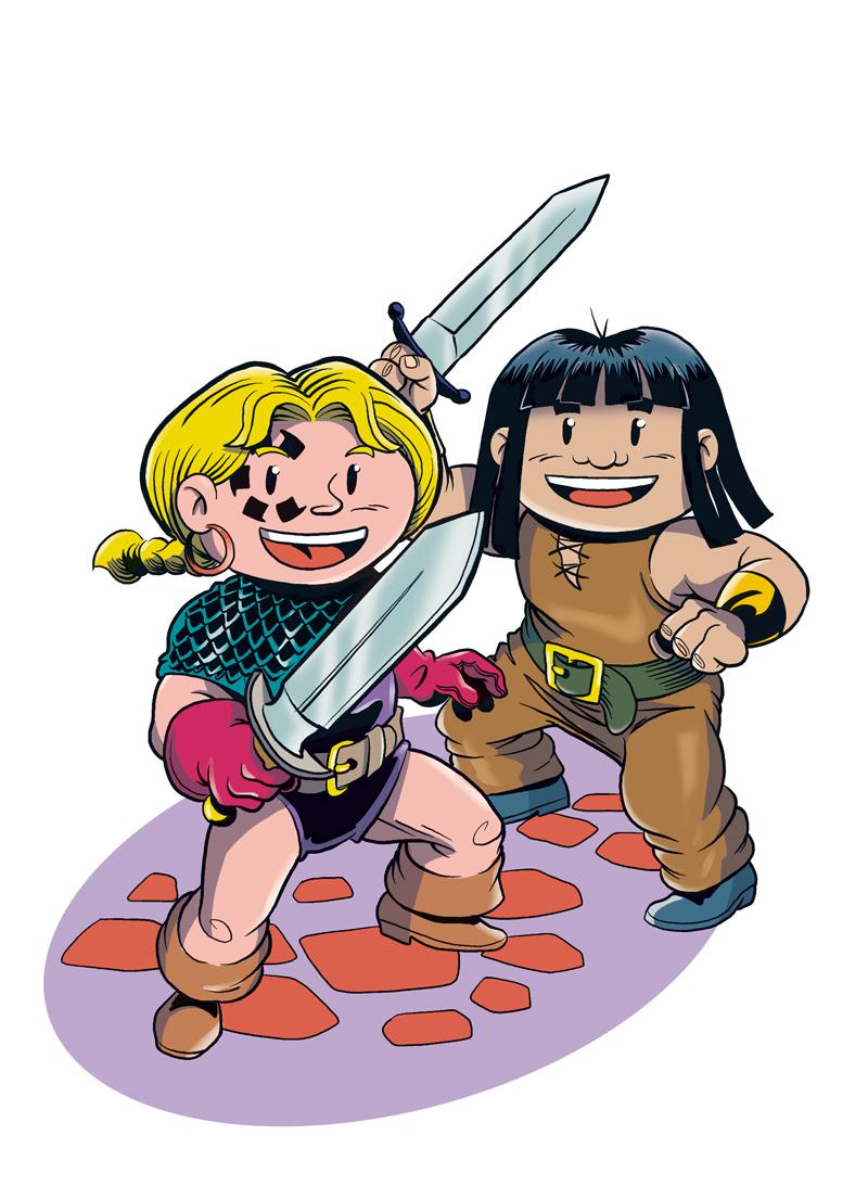 Little Renna y Bulor en guardia
