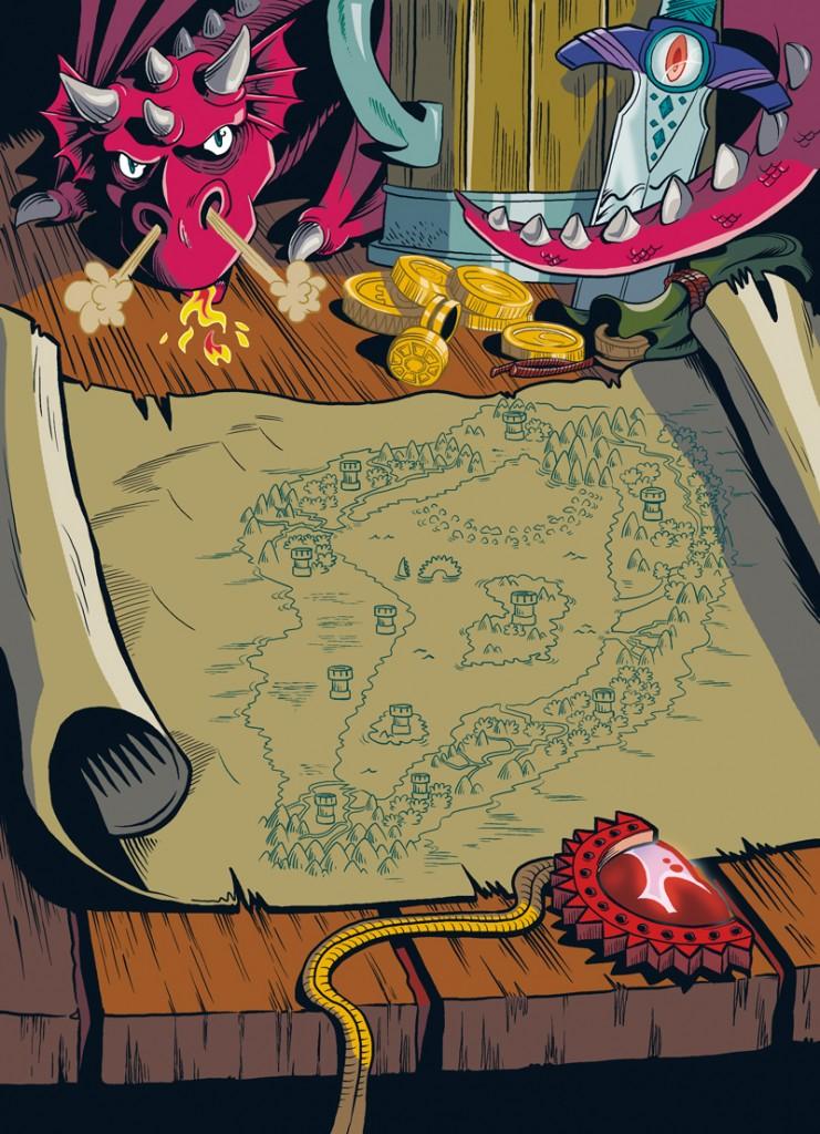 Mapa de Xadur, el mundo de Little Renna